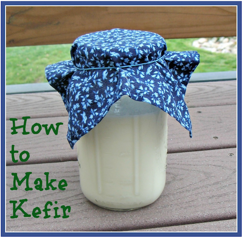 Kefir in glass jar Top Fermented Foods