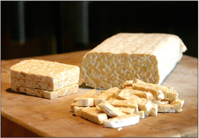 Tempeh fermented soy