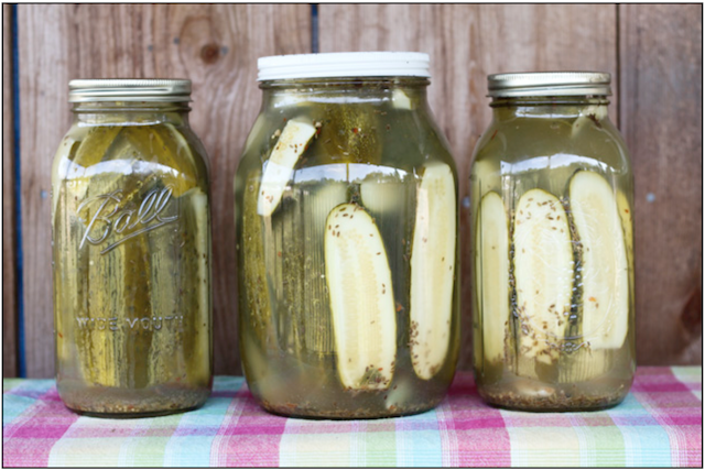 Pickles-Glass Jar-Top Fermented Foods
