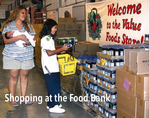 shopping food bank